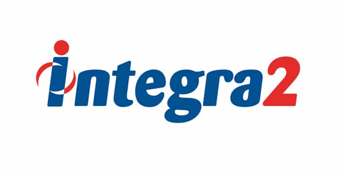Logotipo de la empresa de logística Integra2