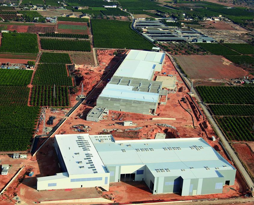 vista aérea de una plataforma logística