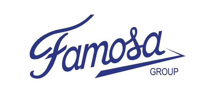 Logotipo del operador logístico Famosa group